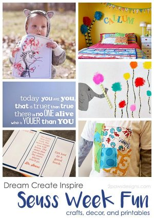 Dream Create Inspire: Seuss Week Fun - Crafts, Decor, and Printables