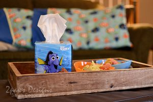 Kleenex® Finding Dory Tissue Box with Movie Night Snacks #FamilyMovieWithKleenex #ad
