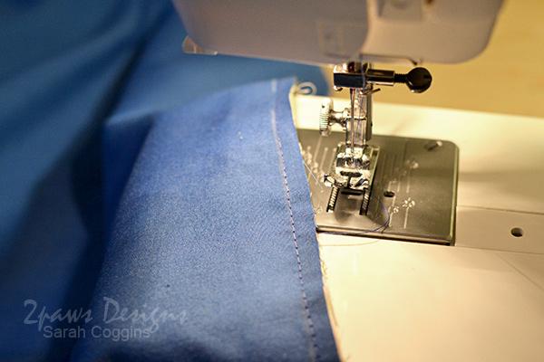 Sew Pillowcase Accent & Band Fabrics to Main Fabric