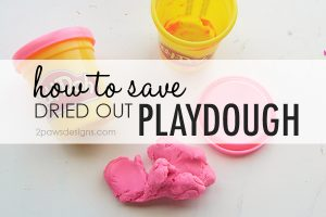 How To Save Dried Out Playdough tutorial with video