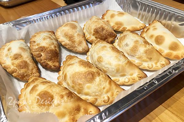 Makus Empanadas: tray of empanadas