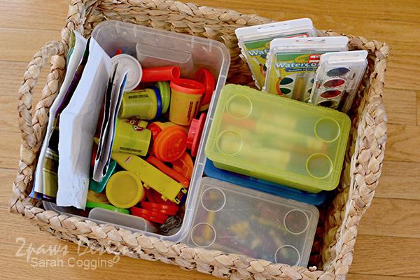 Playroom: Craft Supplies Basket