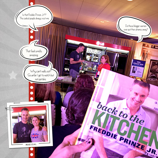 Cooking Demonstration with Freddie Prinze Jr: If these Wall Could Talk digital scrapbooking page