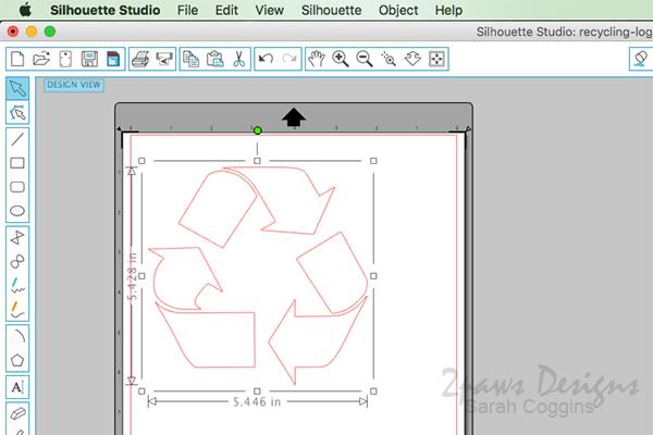 Recycling Bin: Size Logo in Cutting Software