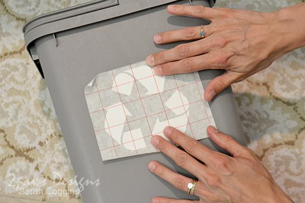 Recycling Bin: Position Vinyl Design