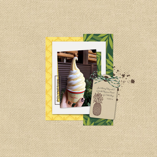 Dole Whip at the Polynesian Resort digital scrapbooking page