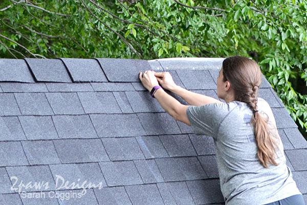 Installing GAF TimberTex® Premium Ridge Cap Shingles #ad #RoofedItMyself