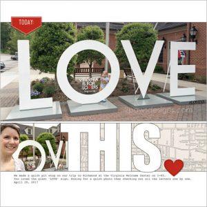 LOVE Around Virginia: Bracey Welcome Center digital scrapbook page