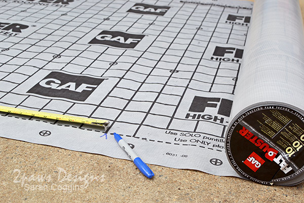 Measuring GAF FeltBuster® Underlayment #ad #RoofedItMyself