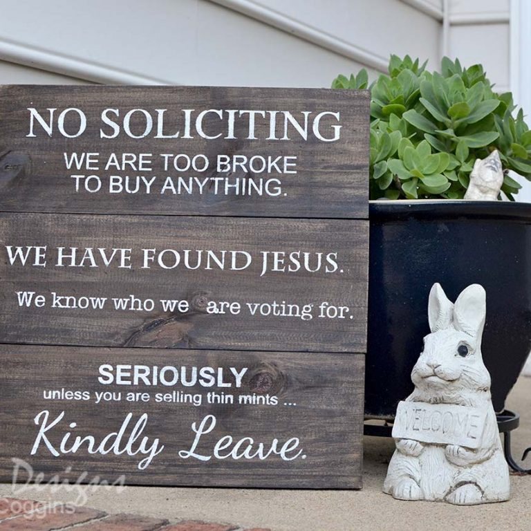 DIY No Soliciting Sign Tutorial