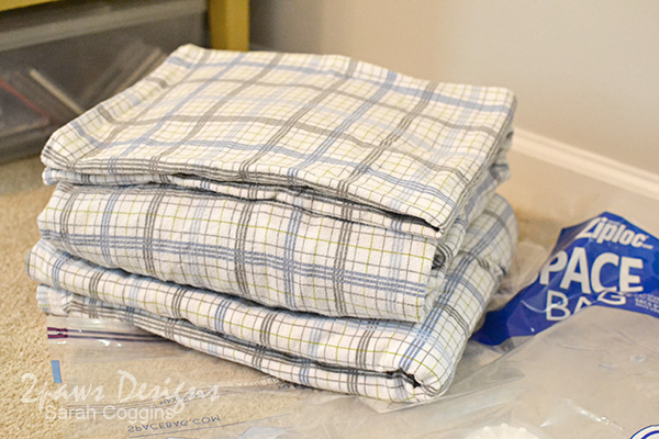 Folded Flannel Sheets