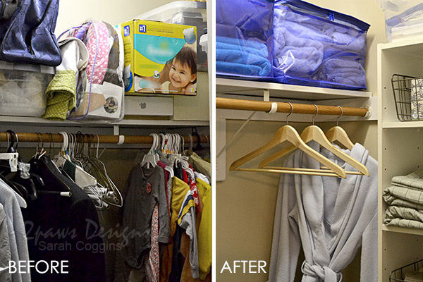 Guest Room Closet Organization: Before & After