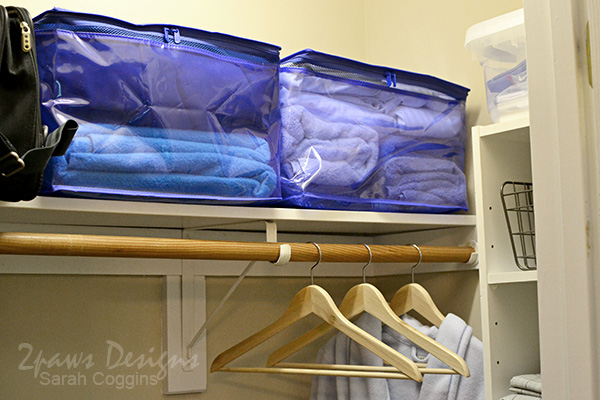Guest Room Closet Shelf After #ad #OrganizeWithSpaceBags