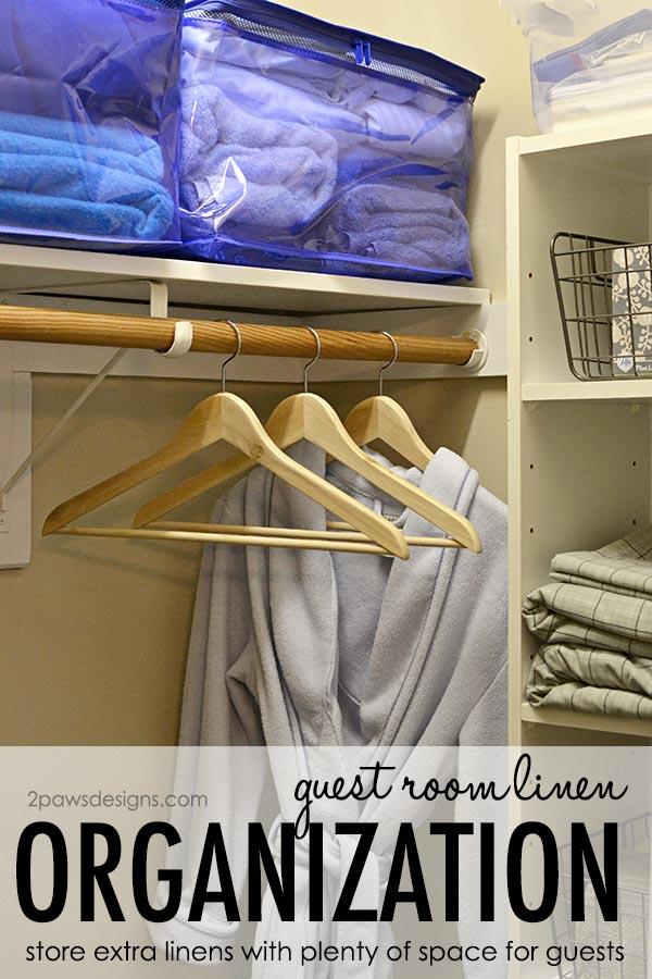 Guest Room Linen Organization #ad #OrganizeWithSpaceBags