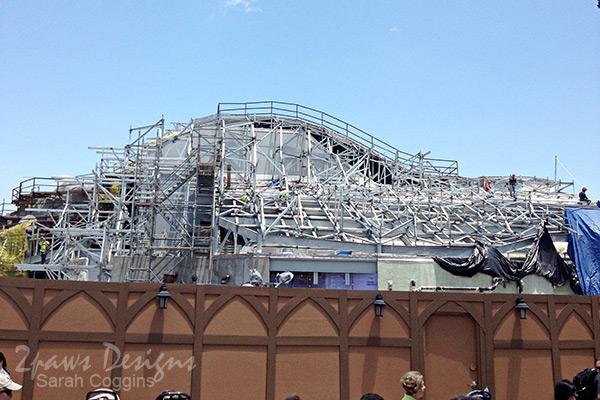 Magic Kingdom: Seven Dwarfs Mine Train under construction - May 2013