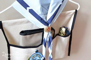 Scout Uniform Organizer: Complete - detail