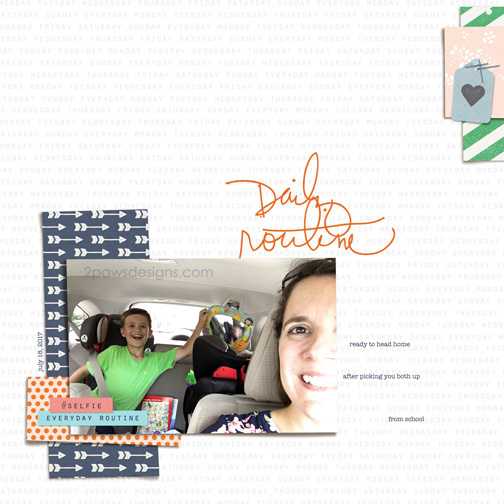 After School Pick-Up digital scrapbooking page