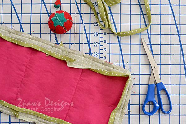 Baby Doll Changing Pad Tutorial: Pin Binding