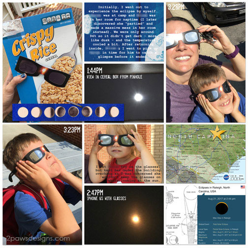 Eclipse 2017 digital scrapbooking layout