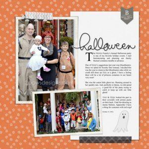 Halloween Party 2016 digital scrapbooking page