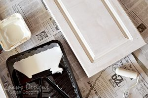 Kitchen: Cabinet Doors Painting - In Progress