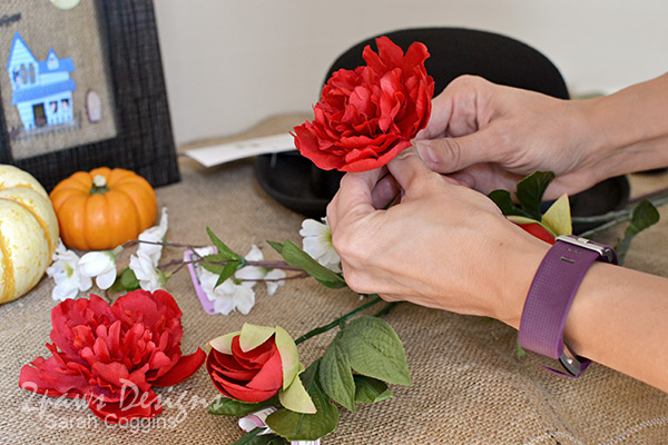 DIY Mary Poppins Hat: Separate Flowers