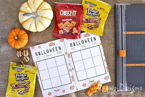 Halloween Tic Tac Toe Game Printable #ad #SnackItAndPackIt
