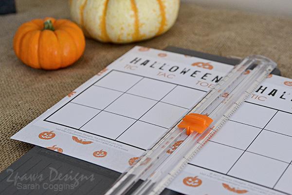 Halloween Tic Tac Toe Printable: Cut Sheet in Half