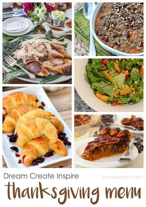 Dream Create Inspire: Thanksgiving Menu