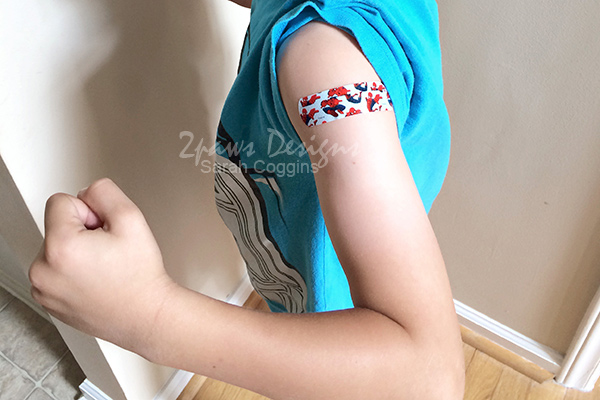 Flu Shot: SpiderMan Bandage