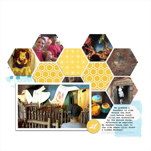Walt Disney World: Winnie the Pooh Ride digital scrapbook page