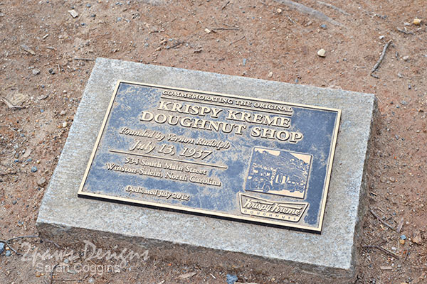 Marker Noting Location of Original Krispy Kreme Doughnut Shop