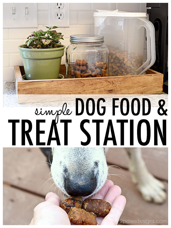 Simple Dog Food & Treat Station