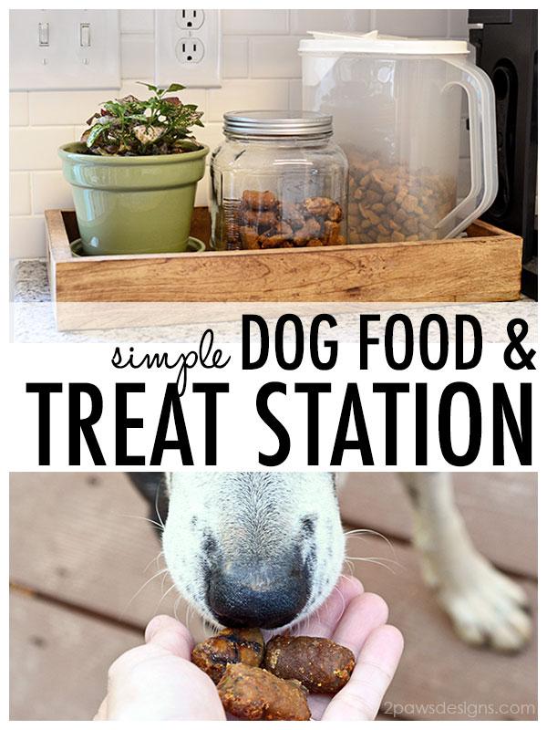Simple Dog Food & Treat Station