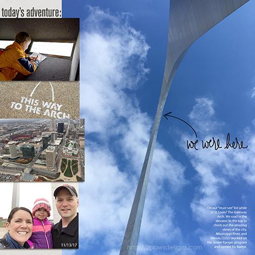 St. Louis Gateway Arch: Scrapbook Album Page