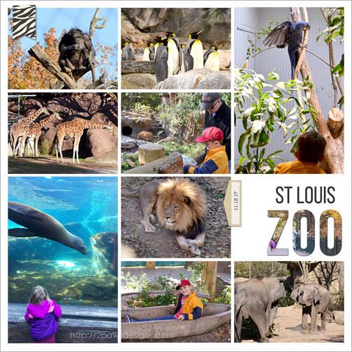 St. Louis Zoo: Scrapbook Album Page