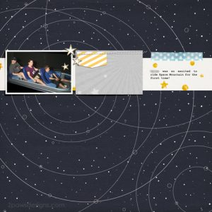 Magic Kingdom: Space Mountain digital scrapbook page