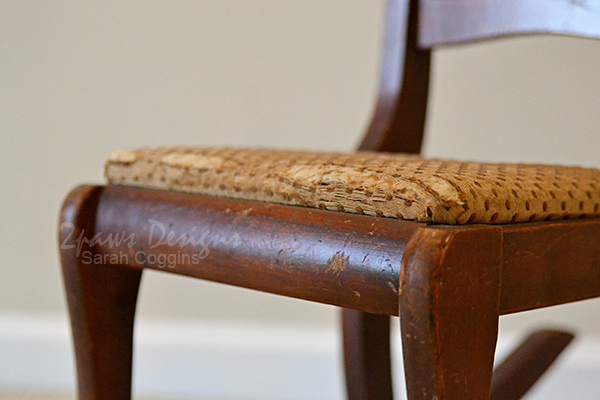 Kids' Rocking Chair: Old Fabric Seat