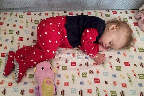 Sleeping Toddler PJ Hack: Shirt over Pajamas