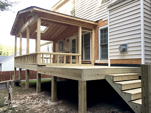 New Porch & Deck Framing: Day 3