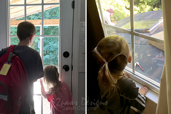 New Porch: Kids Watching Construction