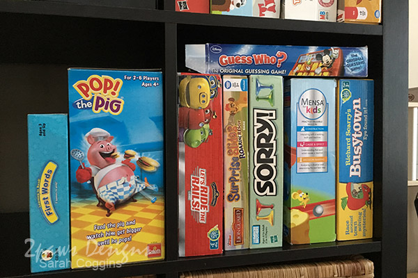 Board Games on Shelf
