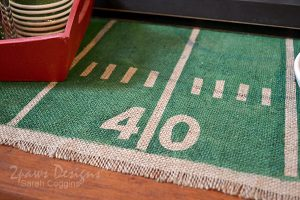 DIY Football Table Runner: Detail