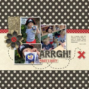 Pirate's Booty digital scrapbook page