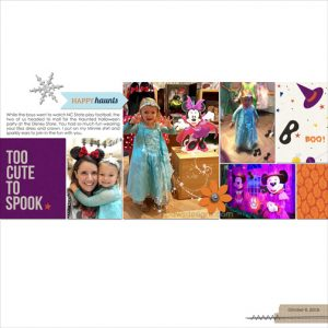 Disney Haunted Halloween digital scrapbook page