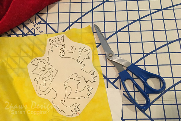 DIY King Arthur Costume: Lion Emblem