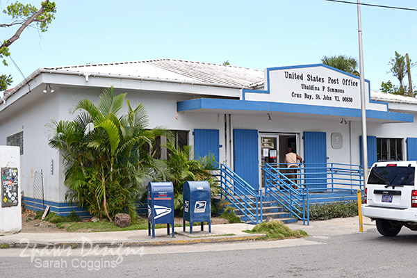 Post Office in Cruz Bay, St John, US Virgin Islands