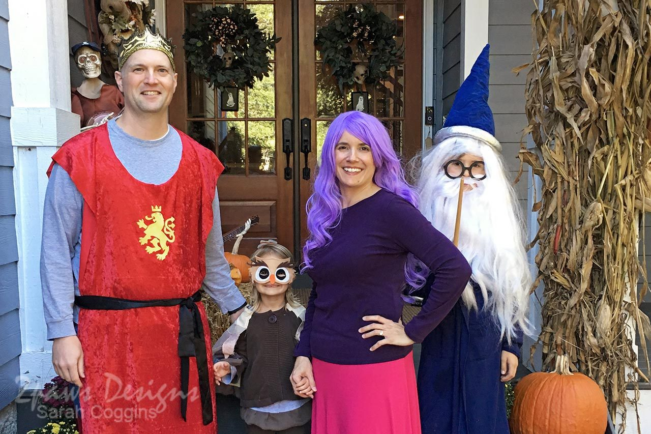 Sword in the Stone Family Halloween Costumes
