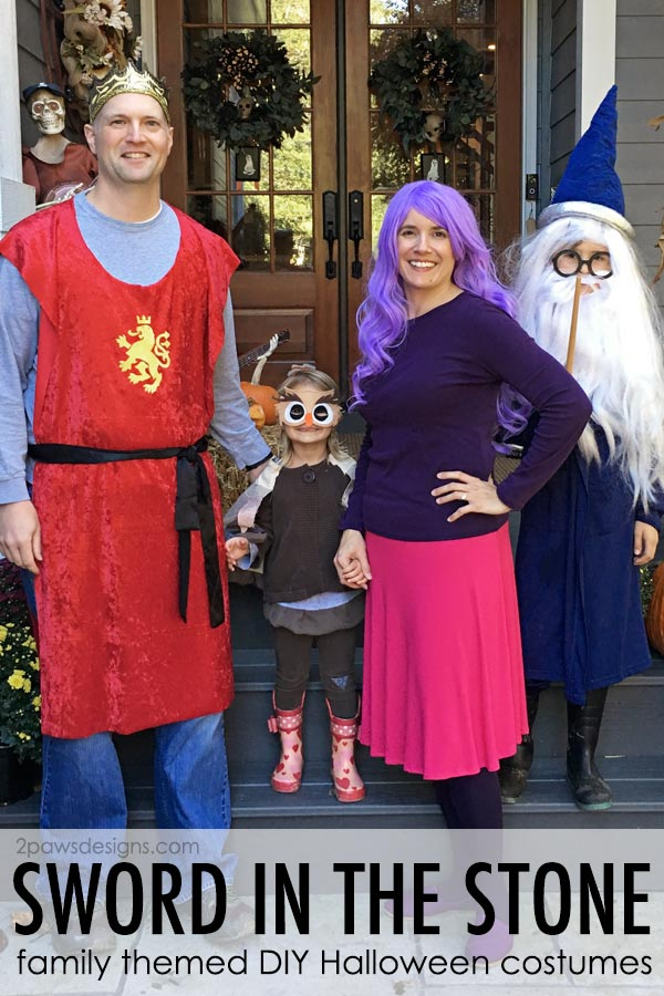 The Sword in the Stone: DIY Family Halloween Costumes