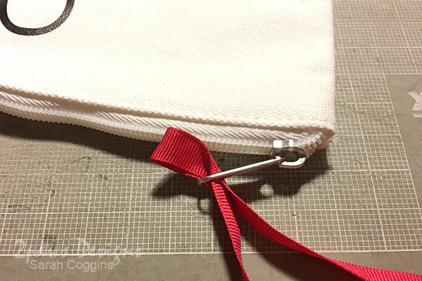Baymax Canvas Pouch: Add Ribbon